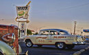 WHITE HOUSE DINER 55 CHEVY Heavy Metal Sign