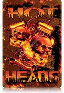 HOT HEADS Heavy Metal Sign