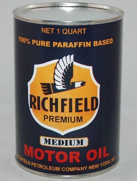 Richfield Blue 32 Fluid Oz. Metal Oil Can