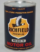 Richfield Blue 32 Fluid Oz. Metal Oil Can