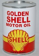 GOLDEN SHELL METAL OIL CAN 32 FL. OZ.