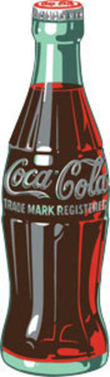 COCA-COLA BOTTLE DIECUT EMBOSSED METAL SIGN