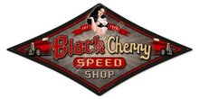 BLACK CHERRY SPEED SHOP HEAVY METAL SIGN