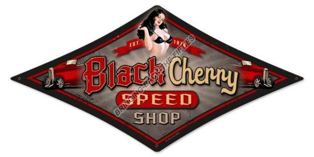 BLACK CHERRY SPEED SHOP HEAVY METAL SIGN