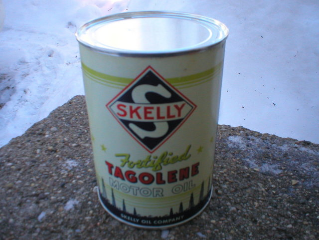 NEW SKELLY TAGOLENE METAL OIL CAN 32 FL. OZ. METAL