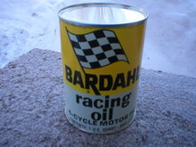 NEW BARDAHL RACING OIL METAL OIL CAN