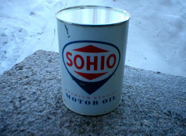 NEW SOHIO MOTOR OIL CAN