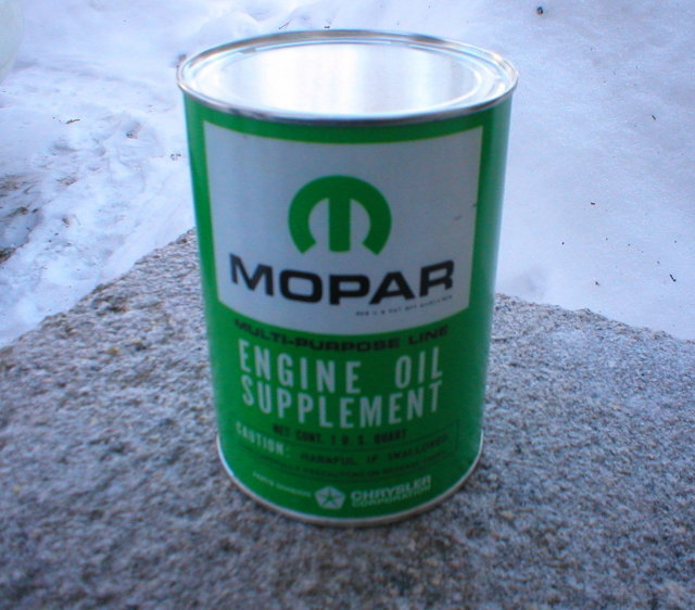 MOPAR ENGINE OIL SUPPLEMENT CAN  EMPTY