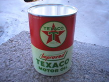 TEXACO IMPROVED MOTOR OIL CAN