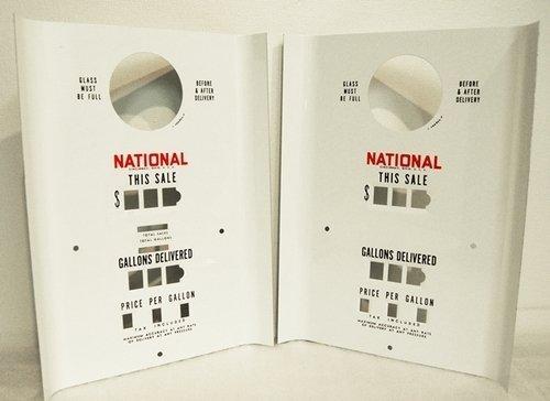 NATIONAL A62 GAS PUMP COMPUTER FACES