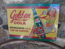 GOLDEN GIRL COLA SUNDROP TIN SIGN