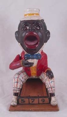 BLACK AMERICANA BOY MECHANICAL BANK