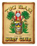 TIKI BAR SURF CLUB HEAVY METAL SIGN