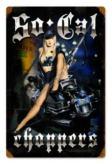 SO CAL CHOPPERS HEAVY METAL SIGN