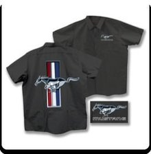 FORD MUSTANG GREY WORK SHIRT