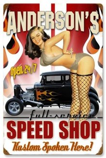 ANDERSON'S SPEED SHOP HEAVY METAL PERSONALIZED SIGN 24 X 16