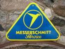 MESSERSCHMITT SERVICE PORCELAIN COATED SIGN