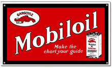 MOBILOIL GARGOYLE RED POWDER COATED SIGN