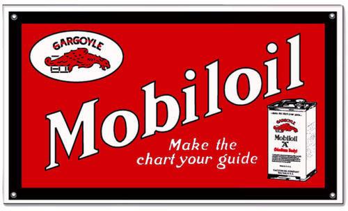 MOBILOIL GARGOYLE RED POWDER COATED SIGN