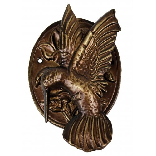 HUMMINGBIRD DOOR KNOCKER BRONZE FINISH CAST IRON