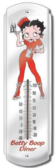 BETTY BOOP DINER THERMOMETER SIGN