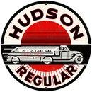 HUDSON REGULAR ROUND METAL SIGN