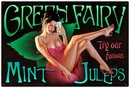 GREEN FAIRY MINT JULEPS LARGE METAL SIGN