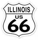 ILLINOIS US 66 SHIELD LARGE METAL SIGN