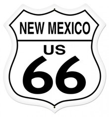NEW MEXICO US 66 LARGE SHIELD METAL SIGN