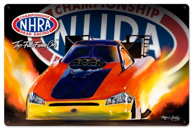 Top Fuel Funny Car Metal Sign