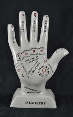 PORCELAIN PALMISTRY HAND