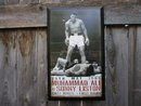 MUHAMMAD ALI SONNY LISTON FIGHT 1965 WOOD SIGN