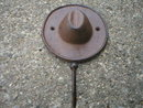 RUSTIC HAT HOOK CAST IRON
