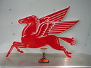 PEGASUS FLYING RED HORSE 20 GAUGE STEEL SIGN