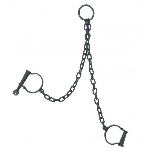 CHAINED LEG IRON SHACKLES NEW