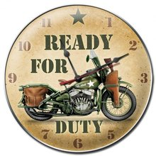 READY FOR DUTY WALL CLOCK