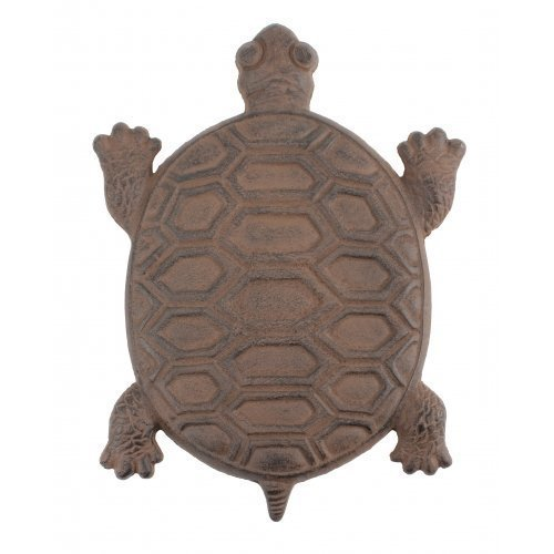 RUSTIC TURTLE STEPPING STONE CAST IRON