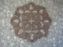 CAST IRON RUSTIC MULTIPLE BUTTERFLY STEPPING STONE