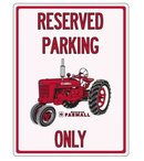 RESERVED PARKING FARMALL ONLY WOOD SIGN