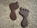 ONE PAIR FEET STEPPING STONES RUSTIC CAST IRON