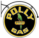 POLLY GAS DOUBLE SIDED BRACKET SIGN