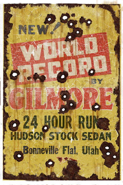 GILMORE RECORD RUSTIC HEAVY METAL  SIGN