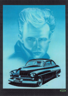 JAMES DEAN 50 MERCURY HEAVY METAL  SIGN