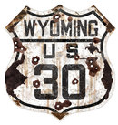 WYOMING US 30 HEAVY METAL SIGN