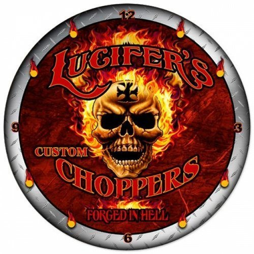 LUCIFERS CHOPPERS WALL CLOCK