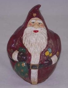 SANTA BIG BELLY COIN BANK CAST IRON