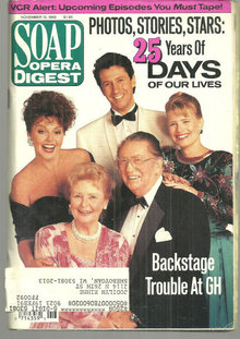 Soap Opera Digest November 13, 1990 25 Years DOL Cover