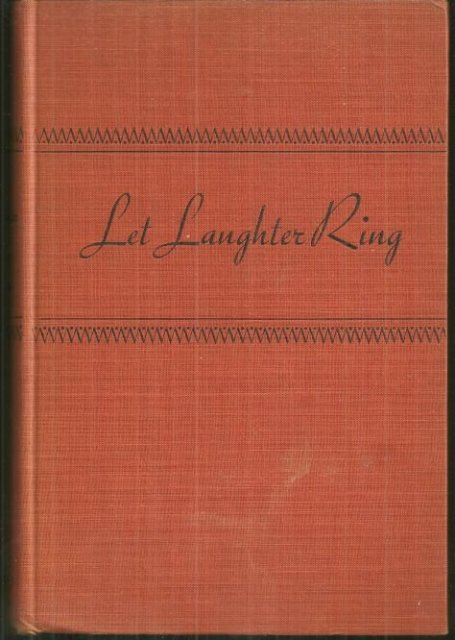 Let Laughter Ring Humorous Jewish Stories 1945