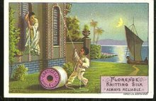Victorian Trade Card for Florence Knitting Silk