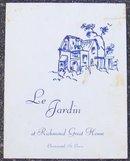 Vintage Menu Le Jardin, Christiansted, St. Croix USVI